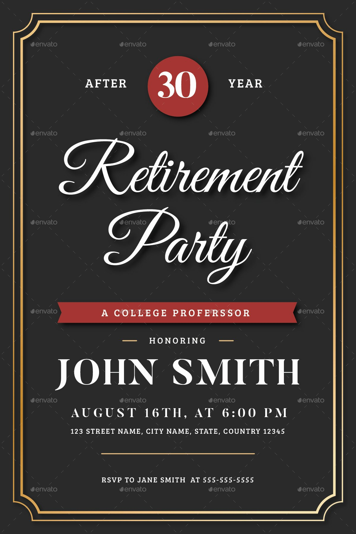 Retirement Party Flyer Template Free Luxury Retirement Invitation Flyer Templates by Vynetta
