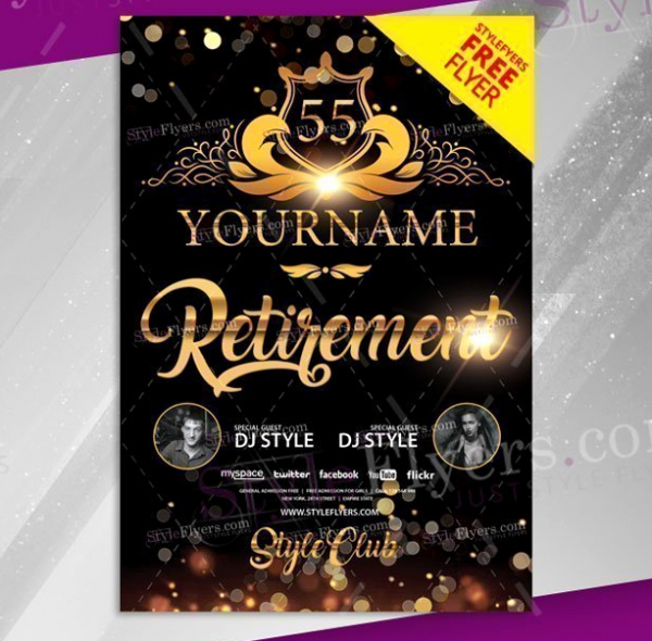 Retirement Party Flyer Templates Awesome 15 Retirement Party Invitation & Flyer Templates Xdesigns