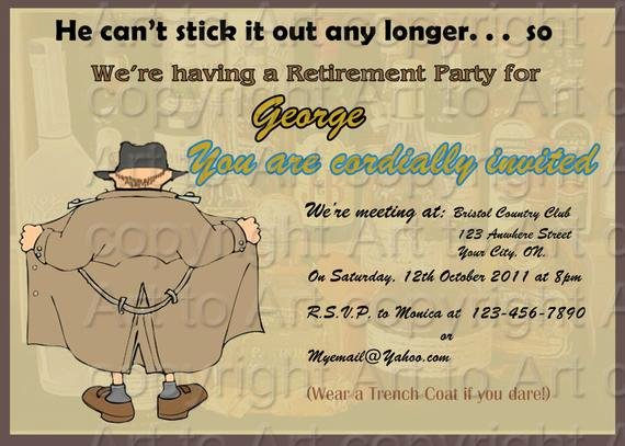 Retirement Party Flyer Templates Awesome Retirement Party Invitation for Man 180 Personalized Digital
