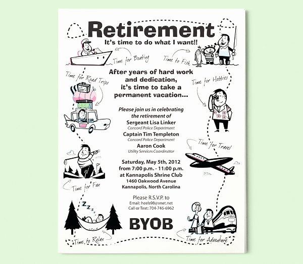 Retirement Party Flyer Templates Best Of 73 Printable Party Flyer Templates Psd Ai Word Pages
