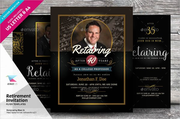 Retirement Party Flyer Templates Inspirational 6 Retirement Invitation Templates Free Download