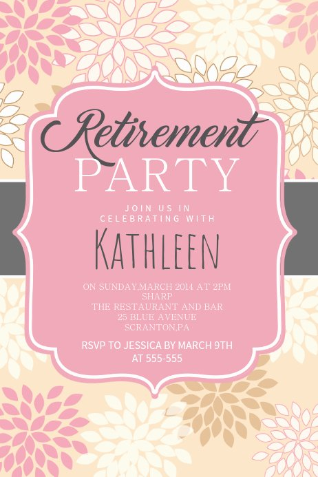 Retirement Party Flyer Templates Inspirational Copy Of Retirement Party Poster Template