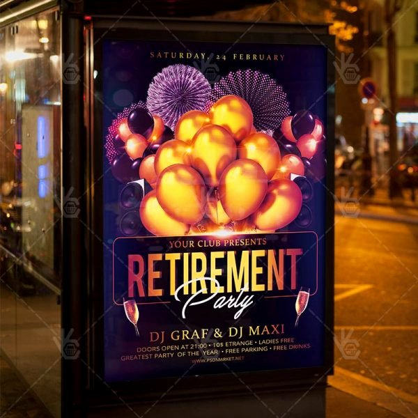 Retirement Party Flyer Templates Inspirational Retirement Party Flyer Psd Template