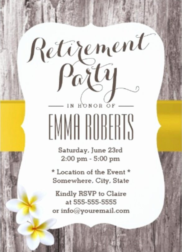 sample retirement invitation