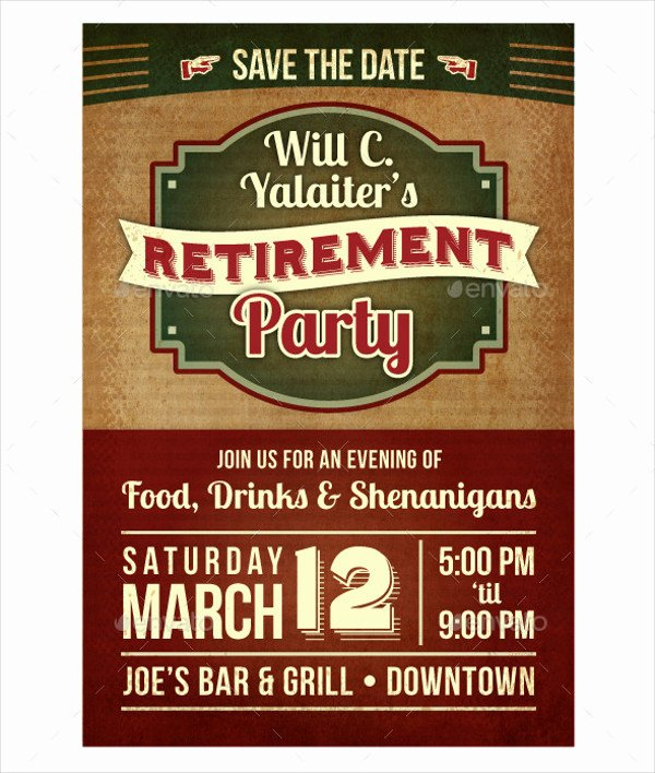 Retirement Party Flyer Templates Lovely 77 Party Flyer Designs Psd Vector Ai Eps