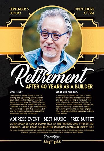 Retirement Party Flyer Templates Luxury Free Retirement Flyer Templates for Shop