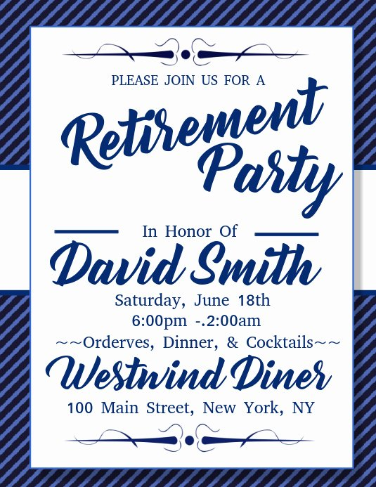 Retirement Party Flyer Templates Luxury Retirement Party Template