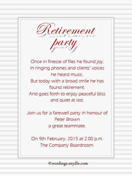 Retirement Party Program Template Awesome Retirement Party Invitation Wording Ideas and Samples