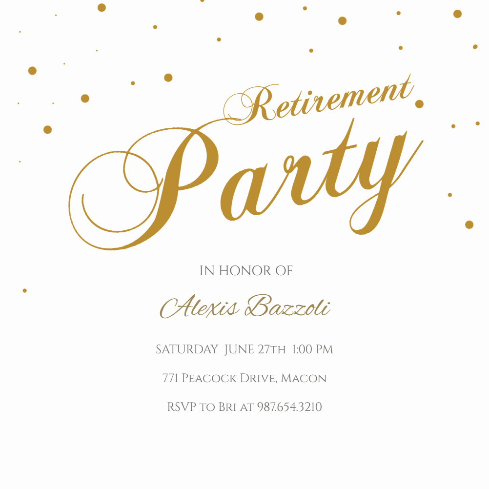 Retirement Party Program Template Awesome Stylish Script Business event Invitation Template Free