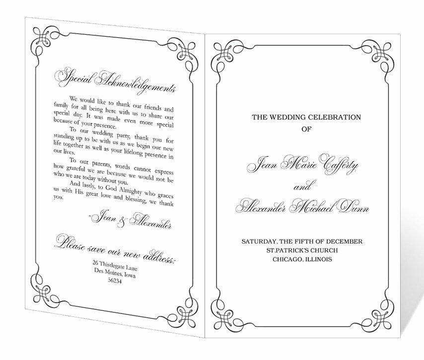 Retirement Party Program Template New Wedding Program Template Printable Instant Download