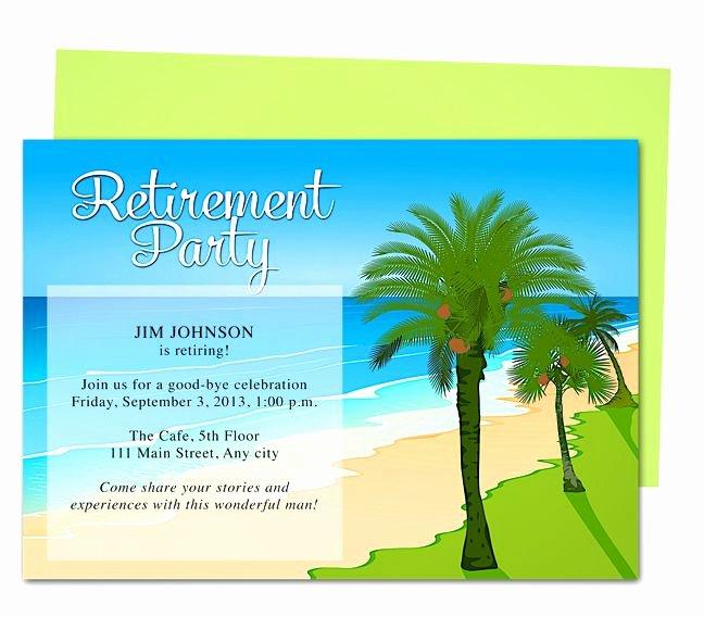 Retirement Party Program Template Unique Tropical Oasis Retirement Party Invitation Templates Use