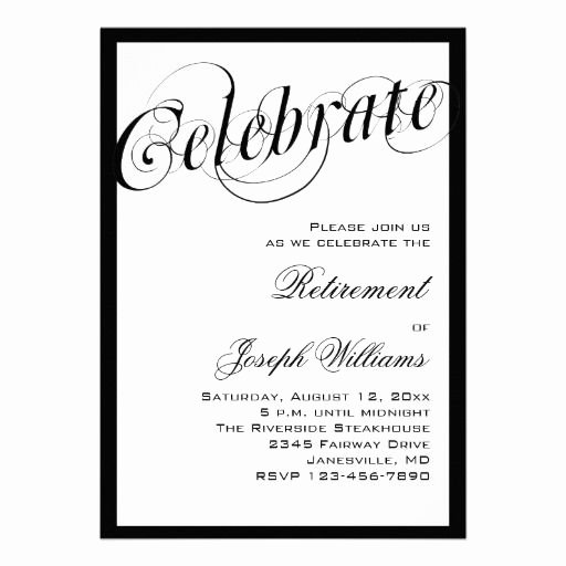 Retirement Party Program Templates Lovely 15 Best Retirement Party Invitation Templates Images On