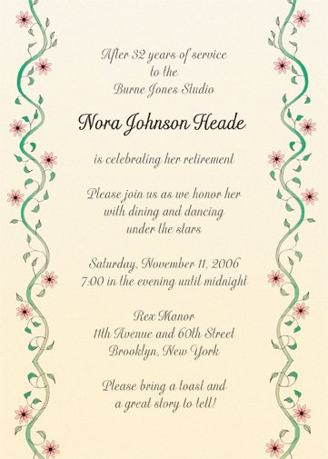 Retirement Party Program Templates Lovely Retirement Party Invitation Style Rpi 10