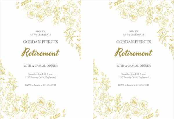 Retirement Party Program Templates Luxury 40 Free Party Invitation Templates Psd Ai Vector Eps