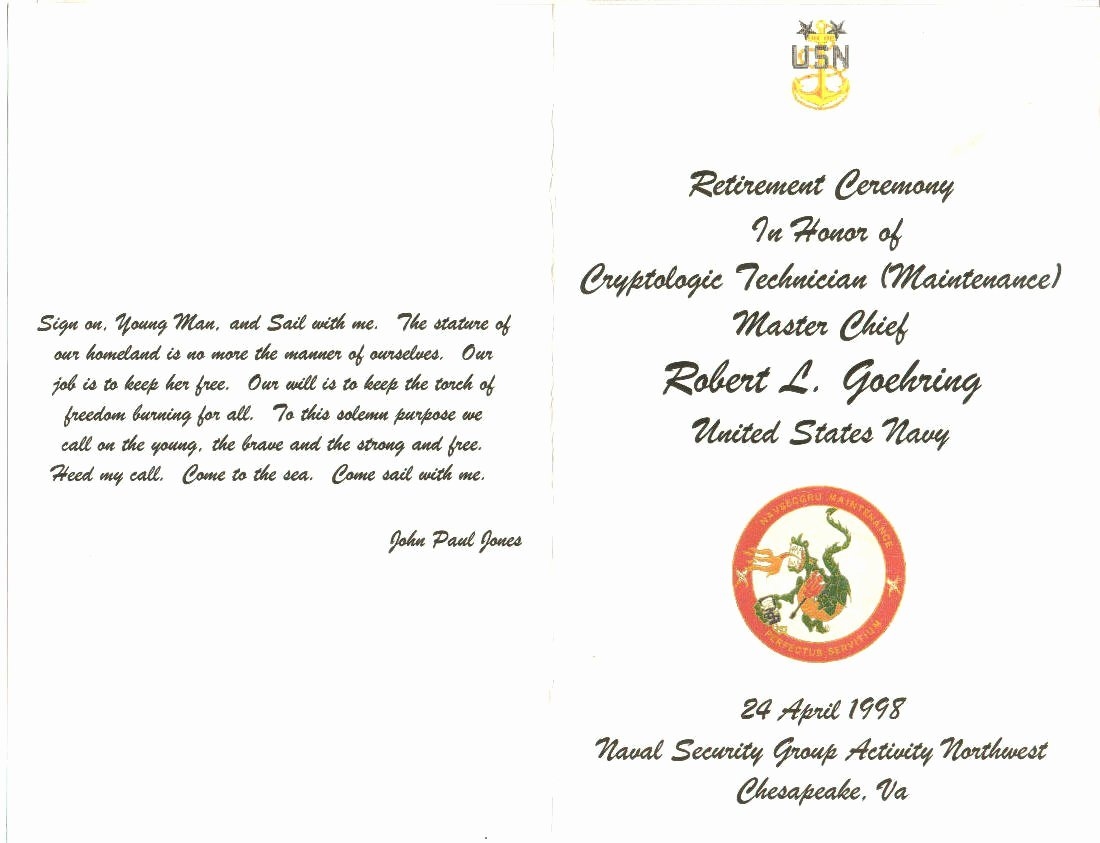 Retirement Party Program Templates New Navy Retirement Invitations