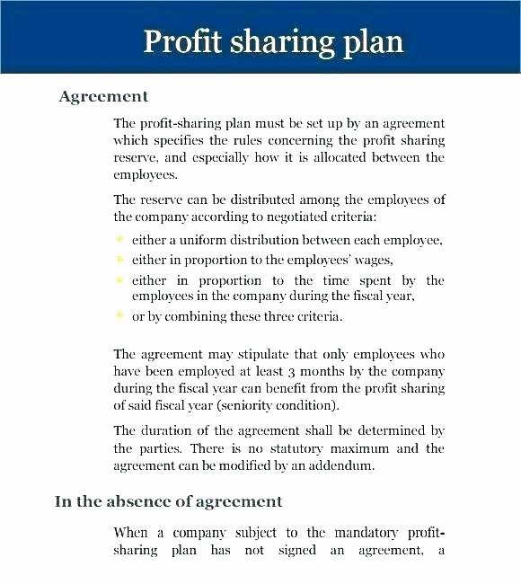 Revenue Sharing Agreement Template Beautiful Share Agreement Template