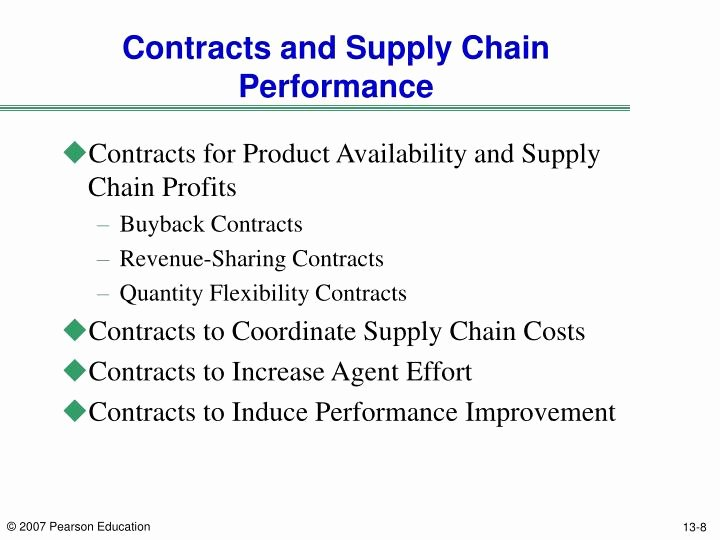 Revenue Sharing Agreement Template Elegant Ppt Chapter 14 sourcing Decisions In A Supply Chain