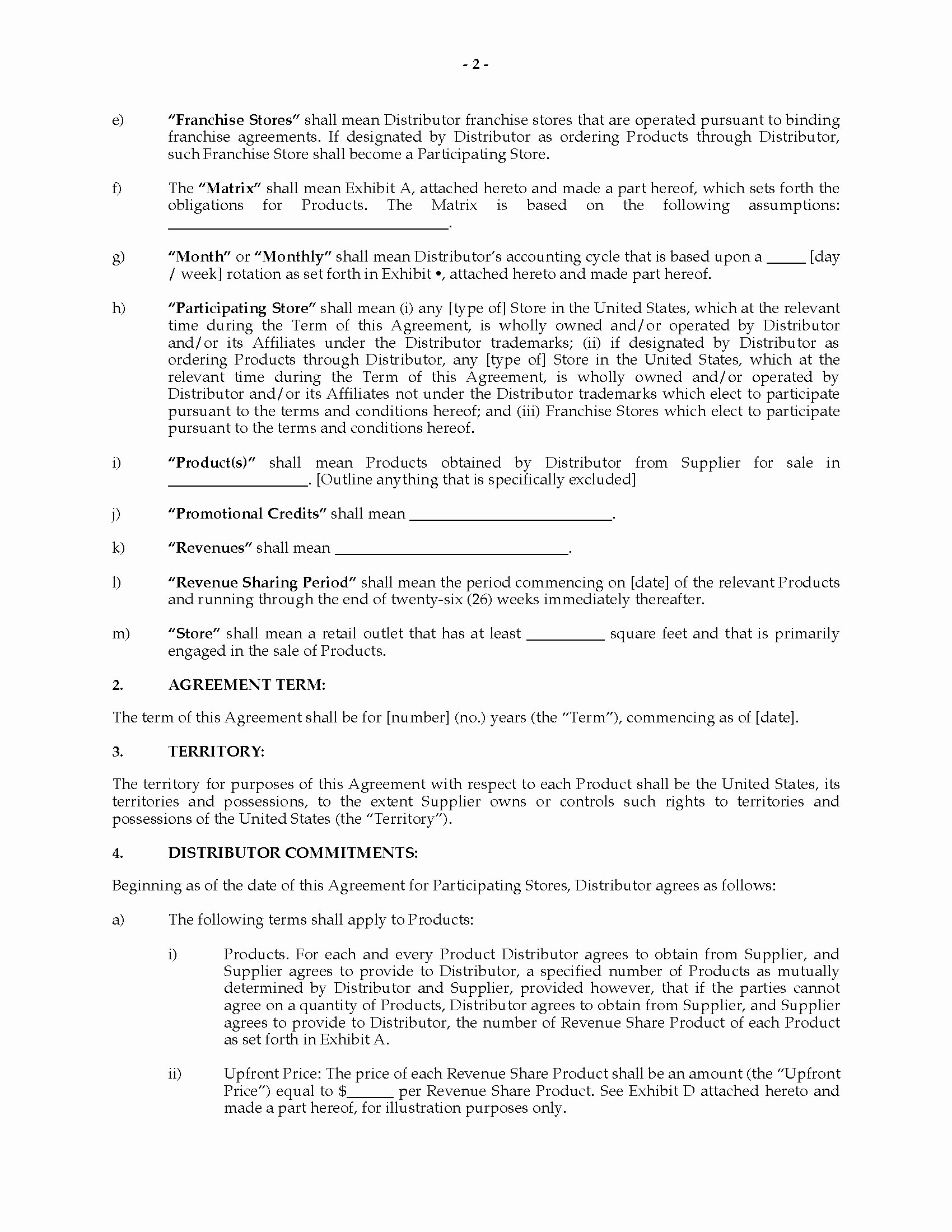 Revenue Sharing Agreement Template Lovely Usa Revenue Sharing Agreement with Franchisor