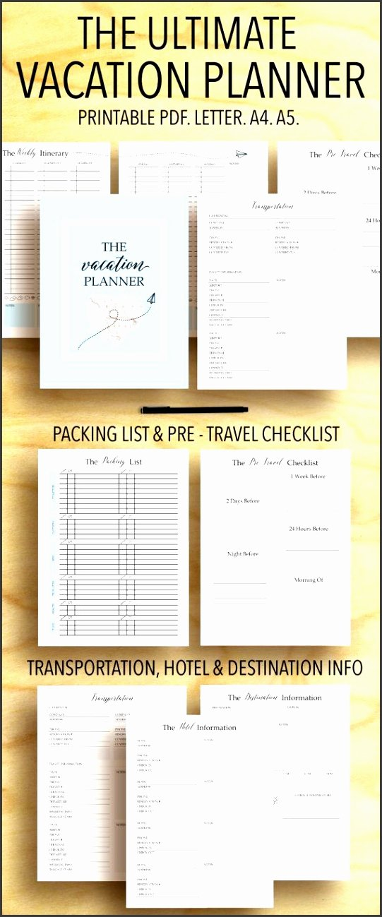 Road Trip Planner Template Best Of 9 Editable 5 Day Trip Planner Sampletemplatess