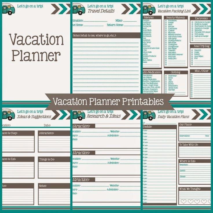 Road Trip Planner Template Best Of Best 25 Vacation Planner Ideas On Pinterest