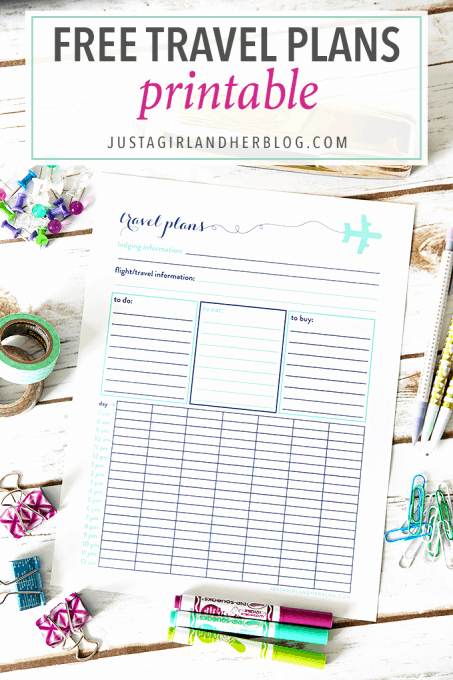 Road Trip Planner Template Elegant Free Travel Plans Printable