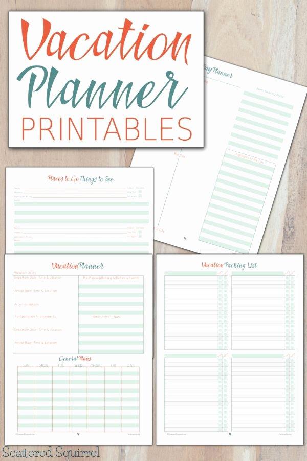 Road Trip Planner Template Elegant Vacation Planner Printables