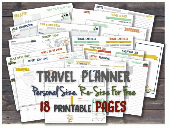 Road Trip Planner Template Inspirational Travel Planner Printable Journal Inserts Road Trip Itinerary