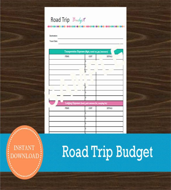 Road Trip Planner Template Lovely 10 Vacation Bud Template Free Sample Example