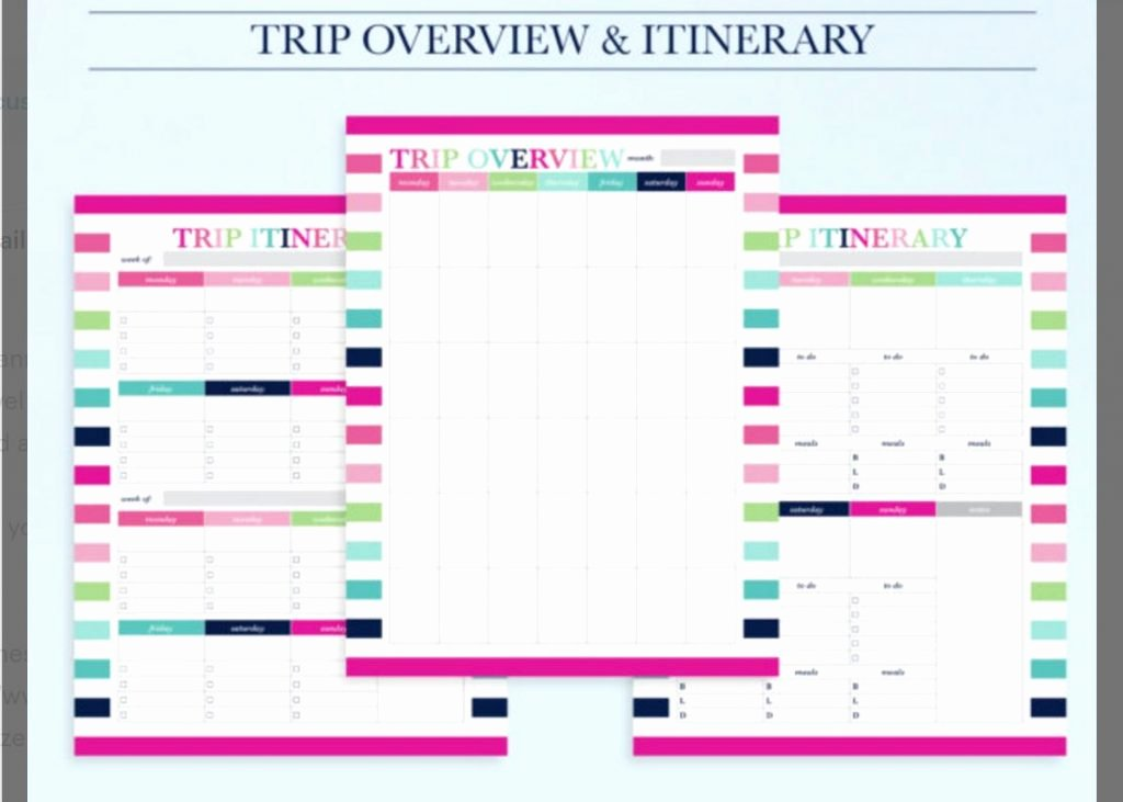 Road Trip Planner Template Luxury 10 Itinerary Template Examples