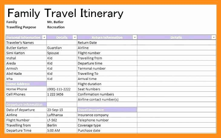 Road Trip Planner Template Unique 12 13 Family Vacation Planner Template