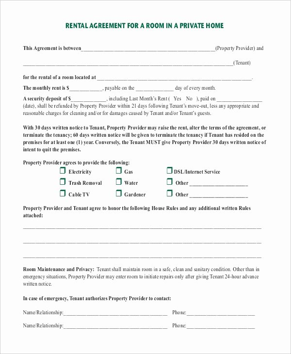 Room Rental Agreement Templates Beautiful Room Rental Agreement Template 12 Free Word Pdf Free