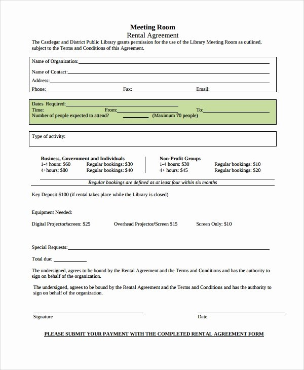 Room Rental Agreement Templates Fresh Sample Room Rental Agreement 8 Documents In Word Pdf