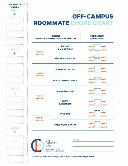 Roommate Chore Chart Template Awesome 14 Chore Chart Examples Templates In Word Pdf Docs