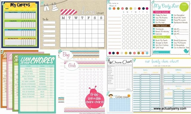 Roommate Chore Chart Template Beautiful Chore Chart Printables Clean and organize