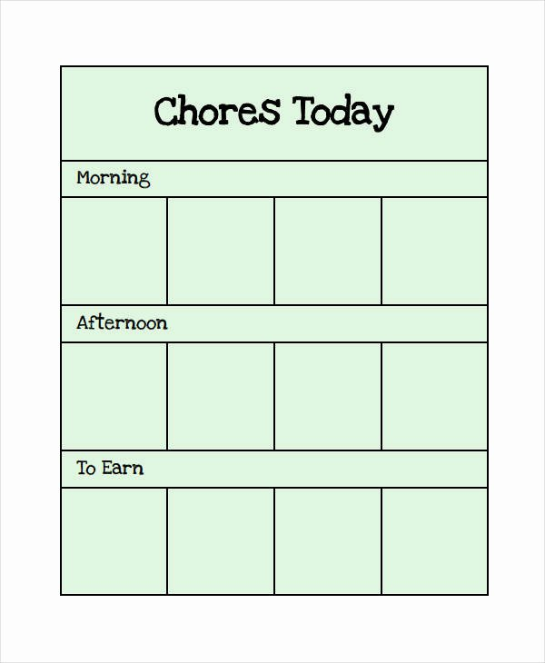 Roommate Chore Chart Template Elegant Printable Chore Chart 8 Free Pdf Documents Download