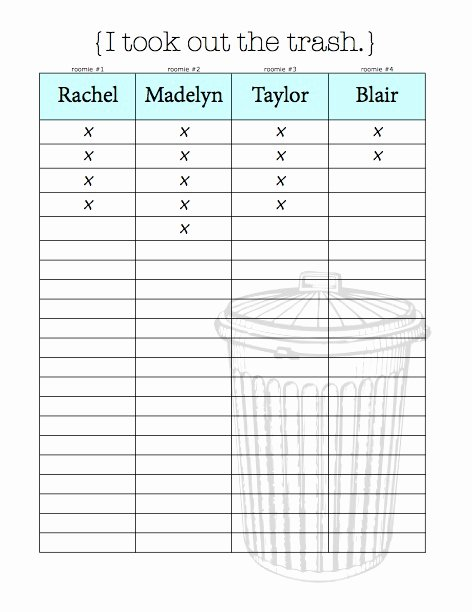 Roommate Chore Chart Template Luxury Chore Charts & organizational Tips for Living with