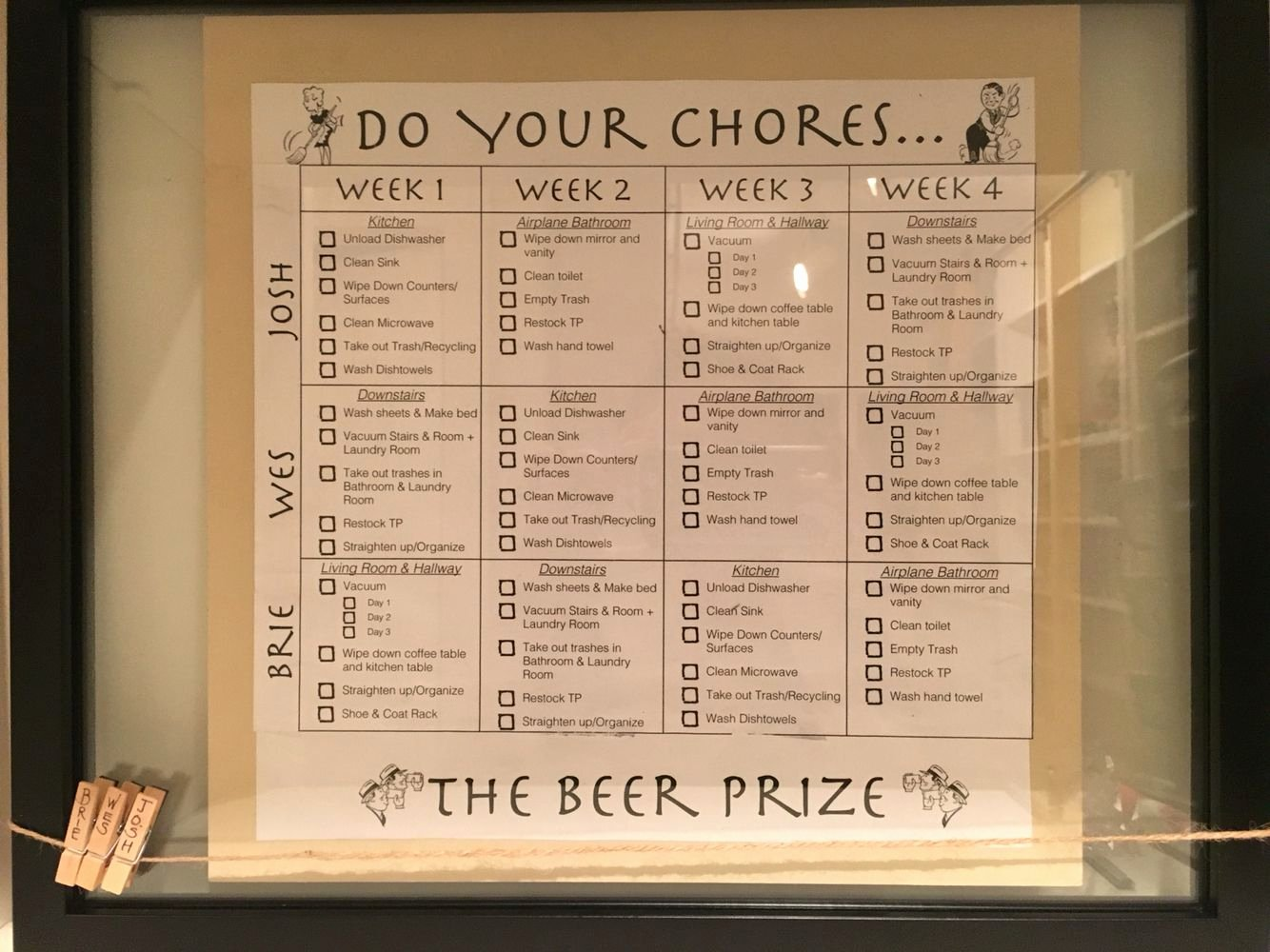 Roommate Chore Chart Template New Roommate Chore Chart Do All Your Chores You Beer at