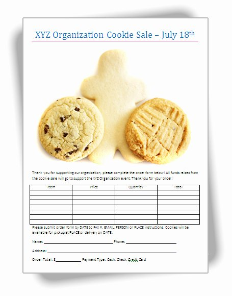 Sale order form Template Fresh Bake Sale Flyers – Free Flyer Designs