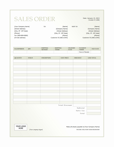 Sale order form Template Inspirational Sales order Template Free Download Edit Fill Create