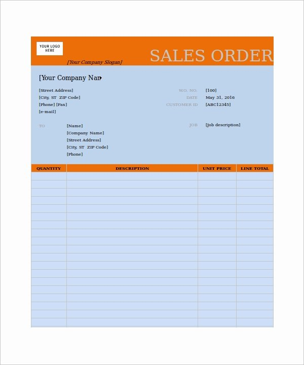 Sale order form Template Luxury order form Template 23 Download Free Documents In Pdf