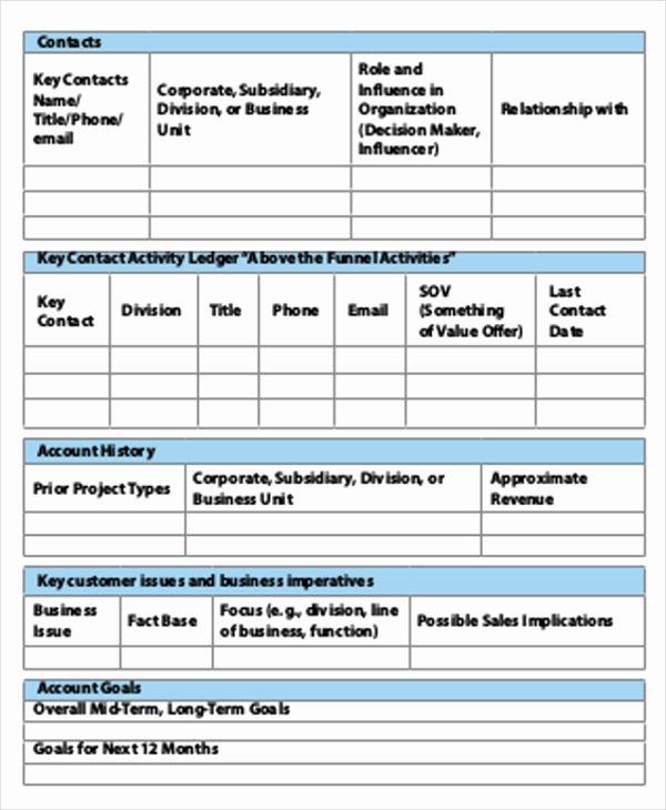 Sales Account Plan Template Beautiful 49 Strategic Plan Templates Pdf Word