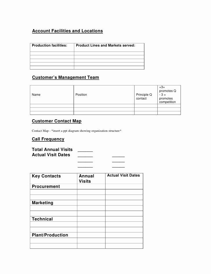 Sales Account Plan Template Fresh Key Account Management Plan