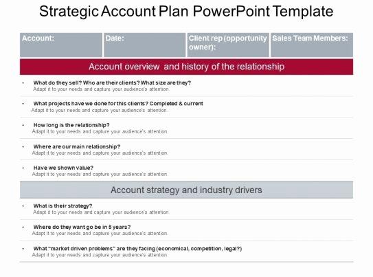 Sales Account Plan Template Fresh Strategic Account Plan Powerpoint Template