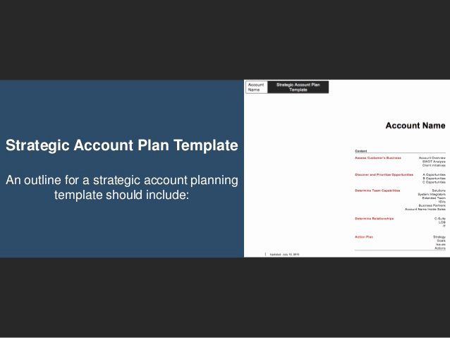 Sales Account Plan Template Luxury Go to Market Strategy Strategic Account Plan Template