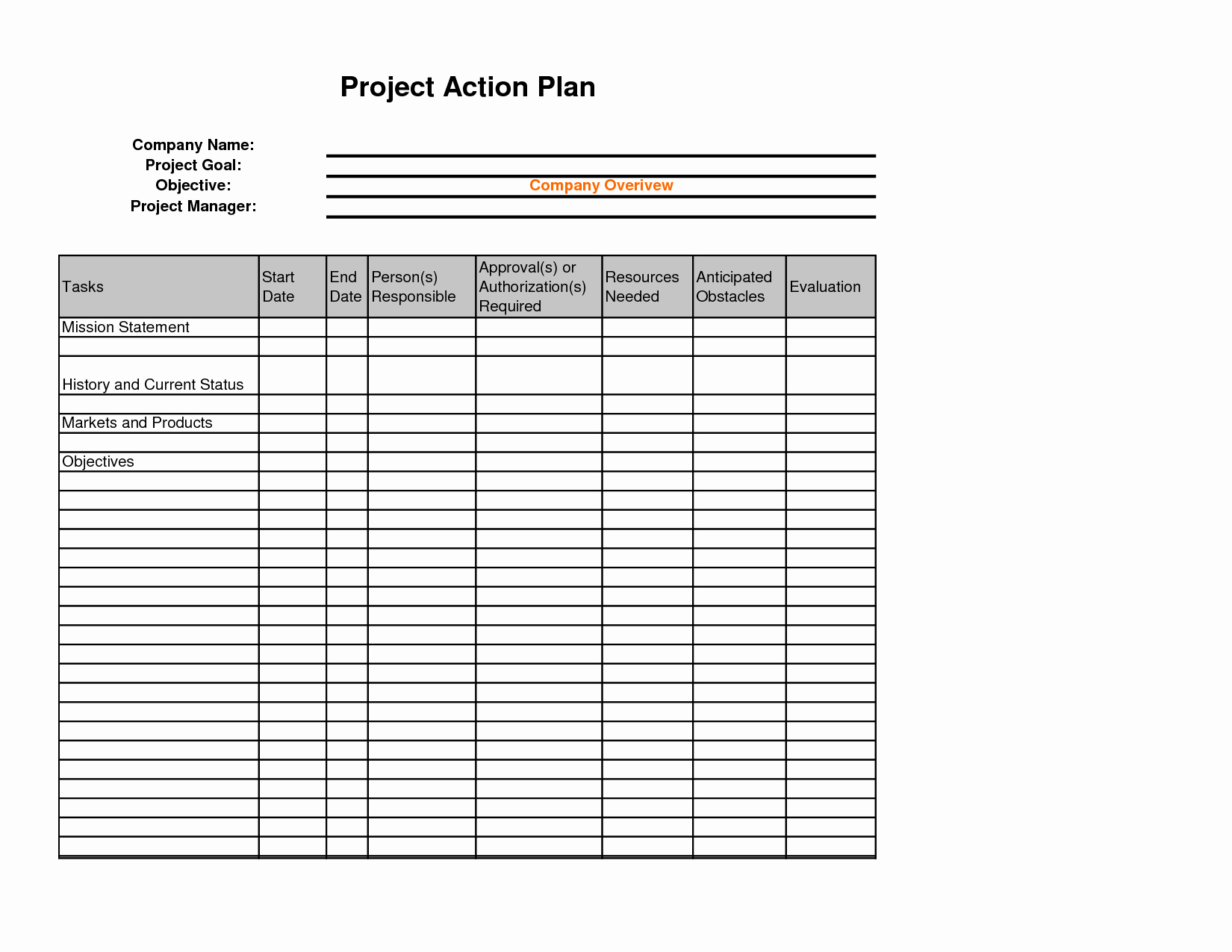 Sales Action Plan Template Awesome Best S Of Sales Plan Template Excel Financial Plan