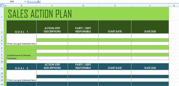 Sales Action Plan Template Awesome Get Sales Action Plan Template Xls