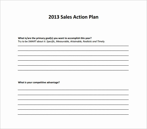 Sales Action Plan Template Fresh 13 Action Plan Templates Free Sample Example format