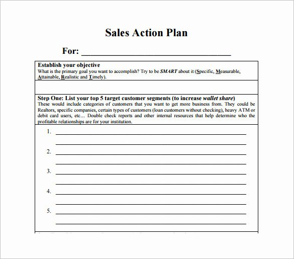 Sales Action Plan Template Fresh Sales Action Plan Template 14 Free Pdf Word format