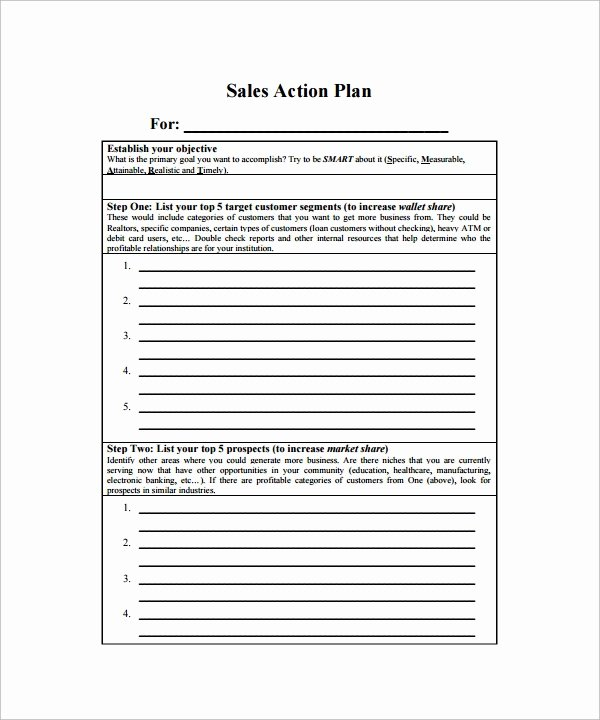 Sales Action Plan Template New Sample Action Plan Template 28 Download Free Documents
