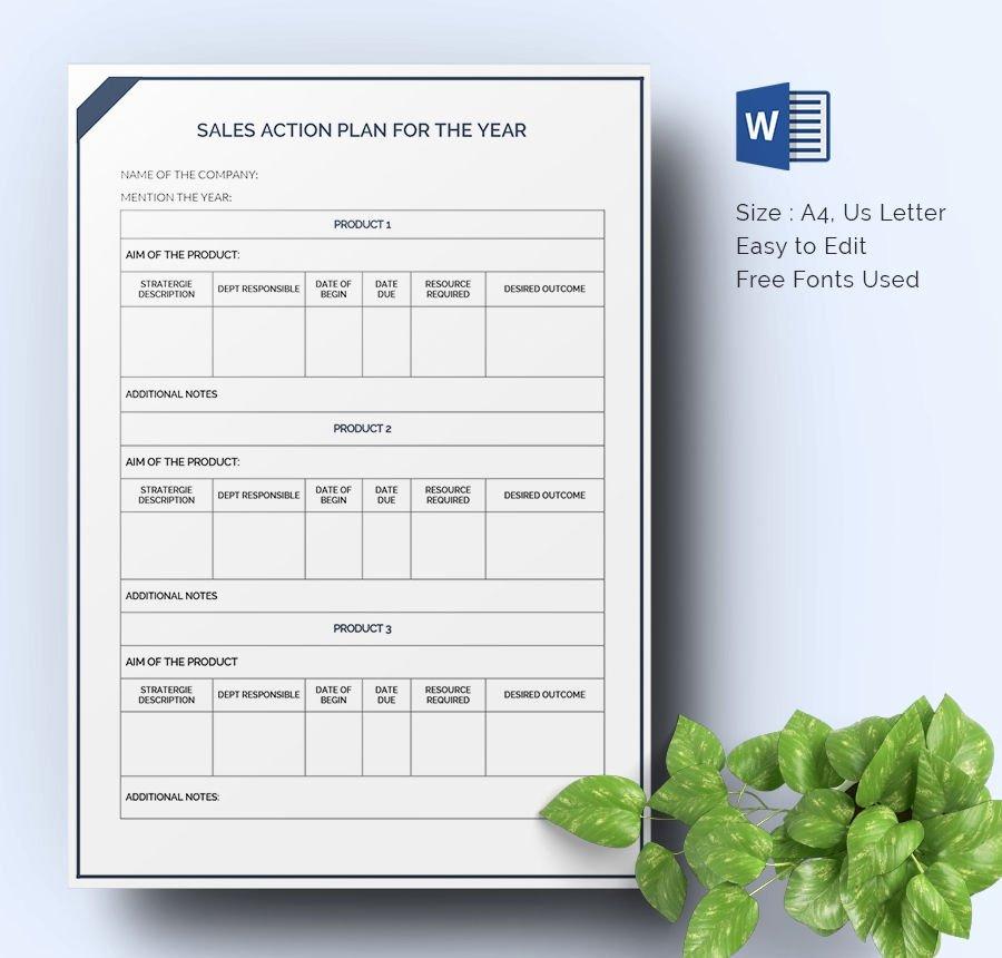 Sales Action Plan Template Unique 28 Sales Action Plan Templates Docs Pdf